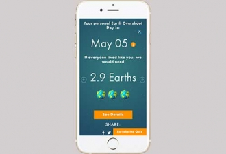 Calculate Your Global Footprint fir Earth Overshoot Day